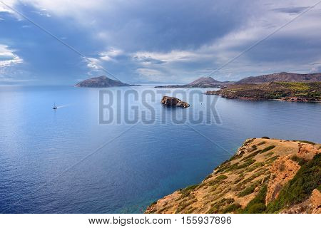 Aegean Sea, Cape Sounion, Attica, Greece