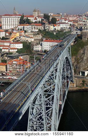 Porto, Portugal at Dom Luis Bridge