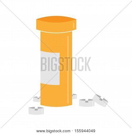 Medical Bottle And Pills