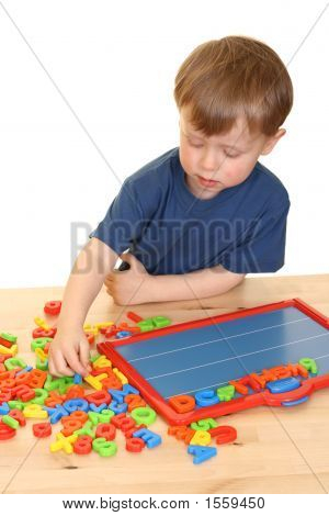 Child And Letters