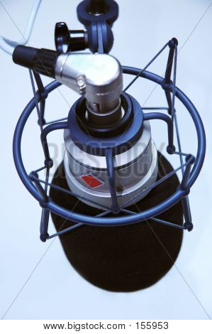 Birds Eye View Of Studio Microphone