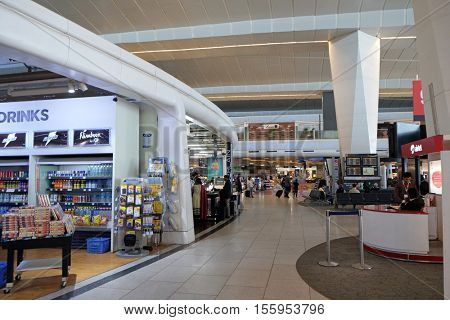 DELHI, INDIA - FEBRUARY 19: Indira Gandhi international airport duty free. Delhi airport is one of the most visited airports in India on February 19, 2016.