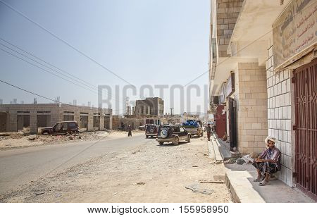 Streets Of Hadibo In Socotra