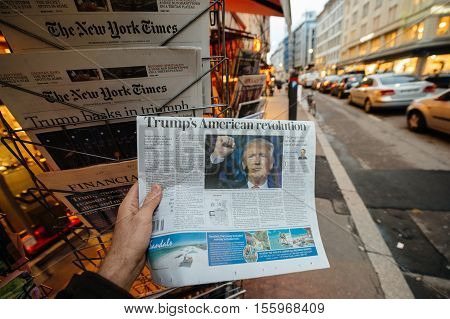 American Press Donald Trump New Usa President