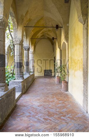The Cloister of Saint Francis of Assisi in Sorrento Italy