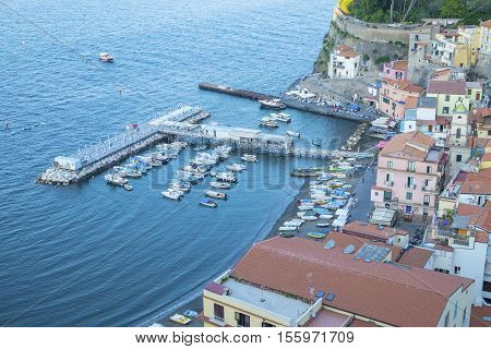 Bird's Eye View of Marina Grande Sorrento Italy