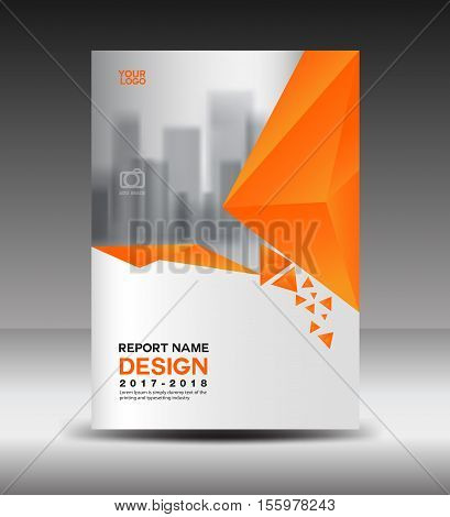 Cover design Annual report vector illustration, business brochure flyer template, book cover, Orange cover advertisement template, magazine cover