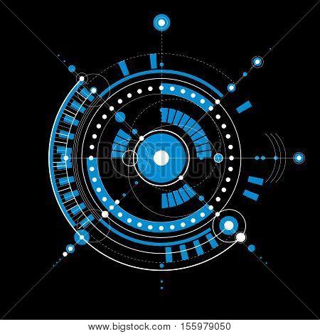 Vector Engineering Technological Background, Futuristic Technical Plan, Mechanism. Mechanical Scheme