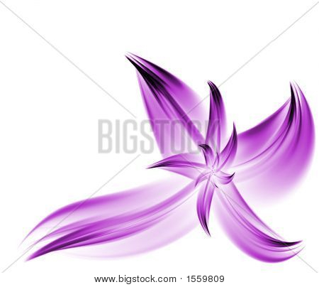 Purple Flowing Fractal Flower