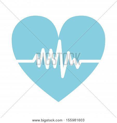 cardio pulse heart icon over white background. vector illustration