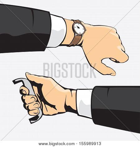 hand sets Vector illustration in cartoon style isolated from the background