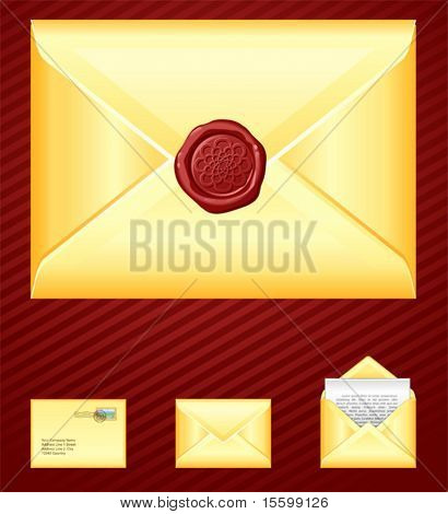 realistic vector mail icons, see also image ID: 19902601