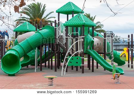 image of green playground for children outdoors