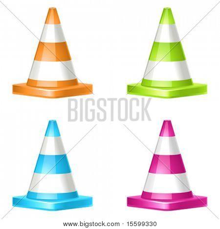 4 vector cone icons