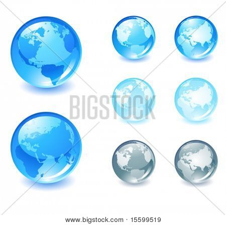 vector globe icon,( only gradients )