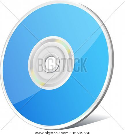 vector blue  cd