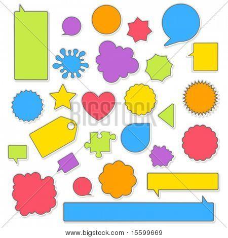 Vektor Farbe Aufkleber