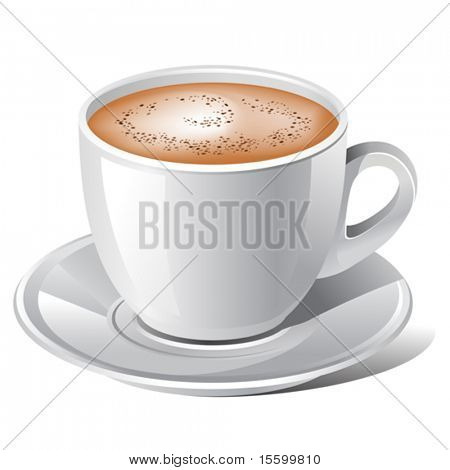 professional vector illustration of coffee cup