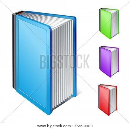 vector book icon (side view)