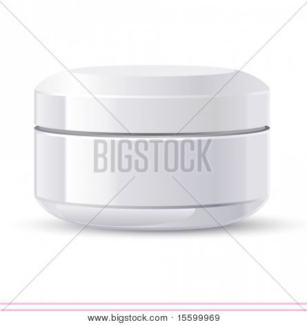 vector cream jar. There are VARIETY of white containers in my portfolio ;)