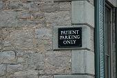 Patient Parking poster