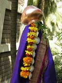 pic of kalash  - Gudhi Padwa - The first day of the New Year in Maharashtra India