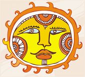 Ethnic Sun. design element.  To see similar, please VISIT MY GALLERY.
