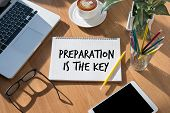 Be Prepared And Preparation Is The Key  Plan, Prepare, Perform poster