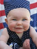 Image of patriotic baby.