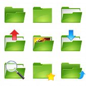 stock photo of file folders  - 9 vector officer icons set1 - JPG