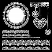 stock photo of eyeleteer  - vector lace elements 2 - JPG