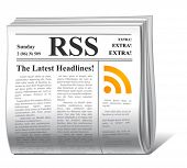vector news rss icon