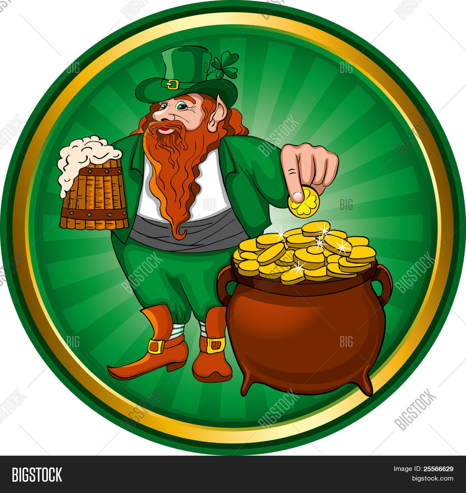 st patrick u0027s day leprechaun mug vector u0026 photo bigstock