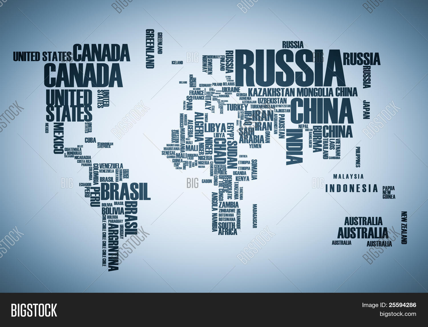 World Map Countries Wordcloud Image Photo Bigstock - World map of countries