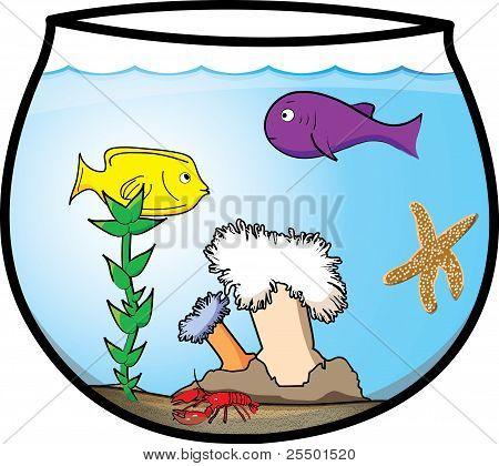 Fun Cartoon Fishbowl