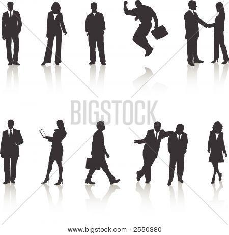 Siluetas de negocios
