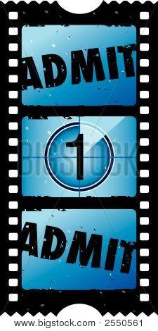 Постер, плакат: 2 X 1 признать один билет в кино, холст на подрамнике