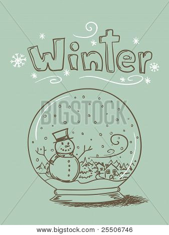 Doodle Snow Globe