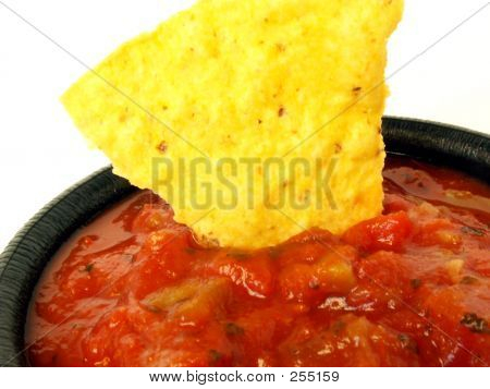 Salsa With Tortilla Chip 2