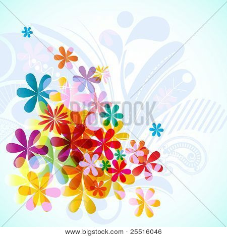 Bright floral spring background