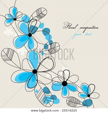 Floral composition with space for text