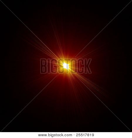 Bright star burst background