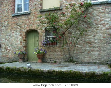 Brugge Belgium Patio