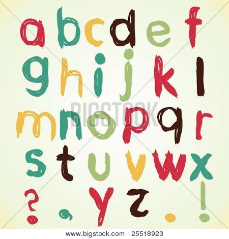 Vector childish alphabet