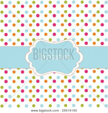 Polka dot design blue frame