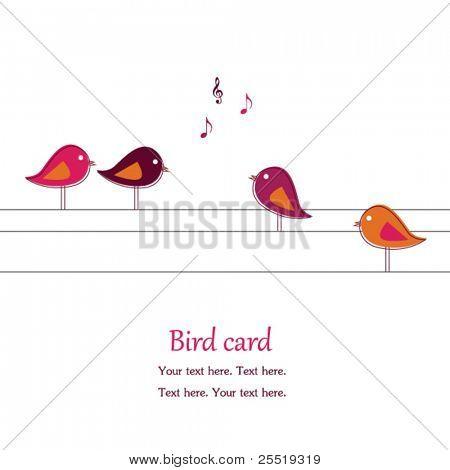 Singing  birds on wires