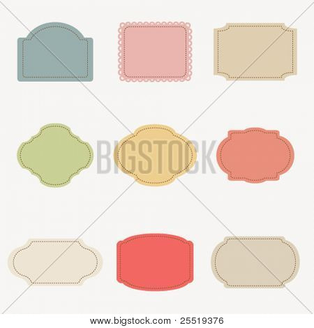 Vector set of vintage frames #3