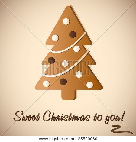 Gingerbread Cookie of Christmas tree