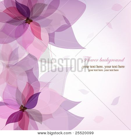 Vector violet flower background