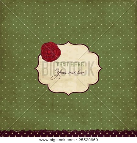 Vintage card with rose
